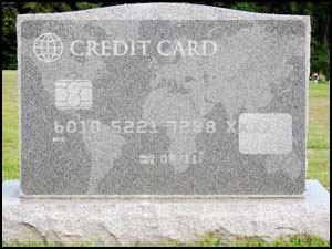 credit card debt after death photo