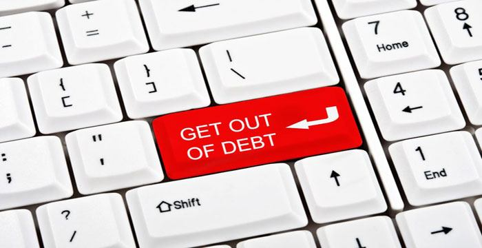 how to get rid of debt with no money