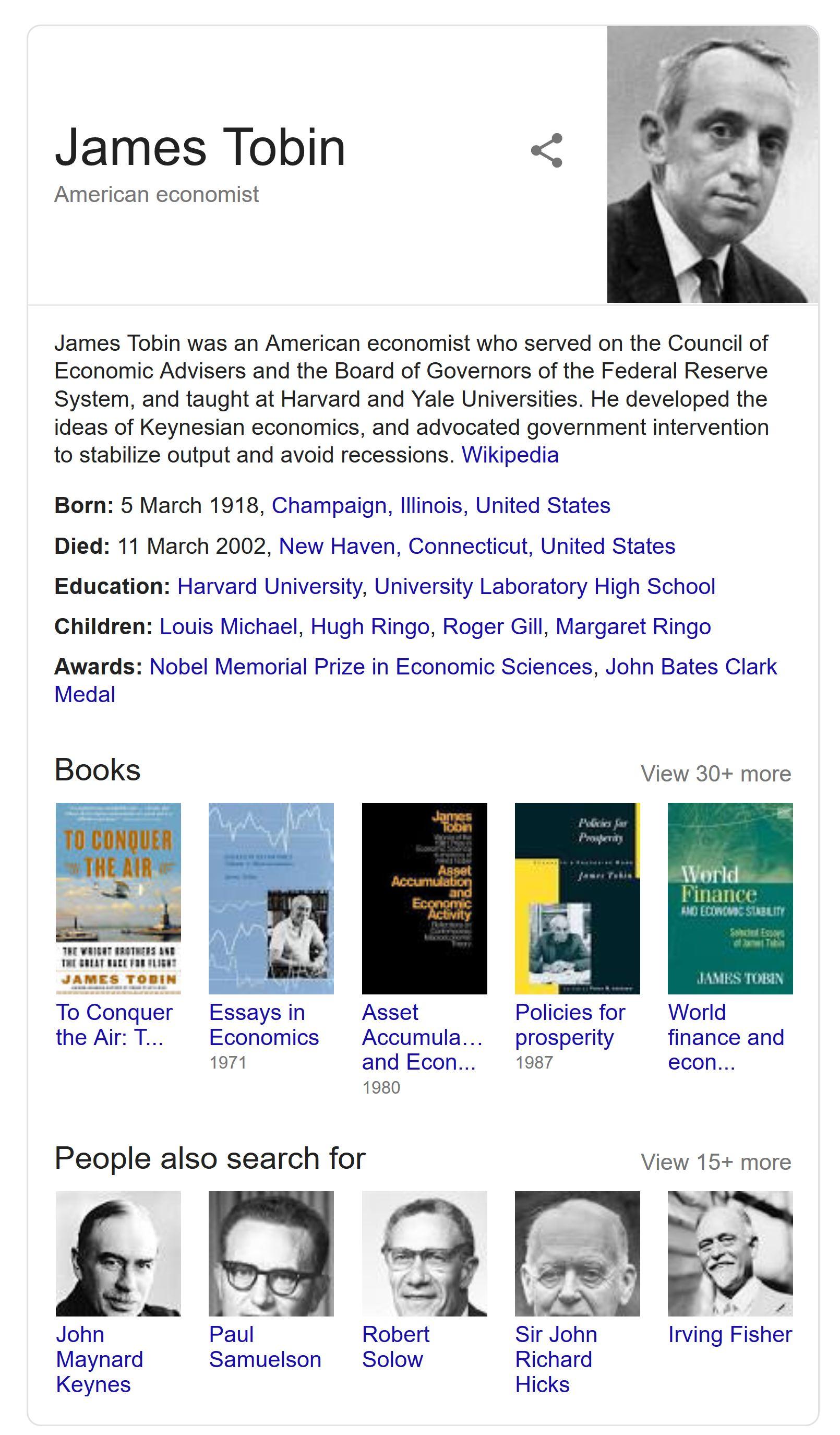 James Tobin Debt