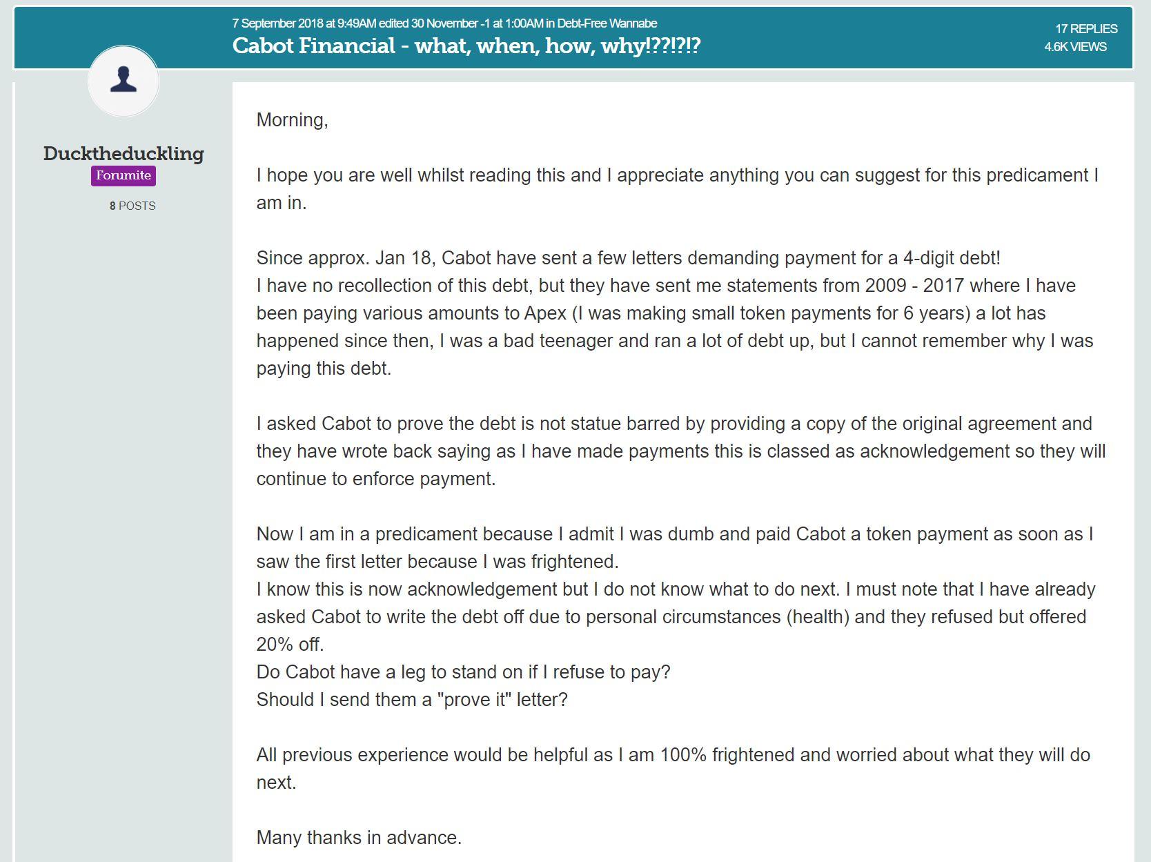 cabot financial debt forum img